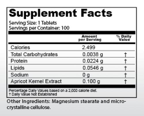 100mg Vitamin B17 info