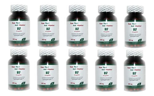 10 Bottles of 500 mg Vitamin B17 CAPSULES
