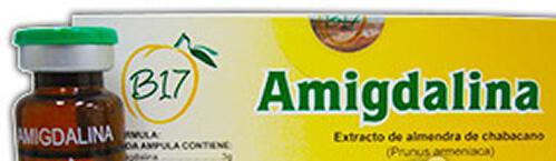 7 boxes B17 injectable liquid solution - Amigdalina