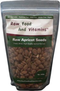 1 pound bag of Raw Bitter Apricot Seeds