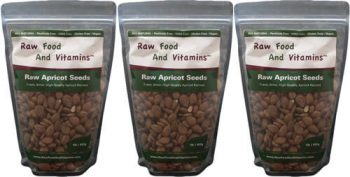 3 of the 1 pound bags of Raw Bitter Apricot Seeds