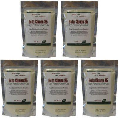 Bulk Beta Glucan Raw Powder 5 pack