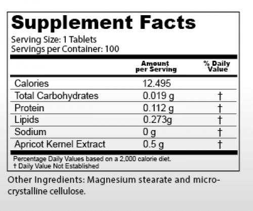 500mg Vitamin B17 info