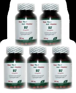 5 Bottles of 500mg Vitamin B17 CAPSULES