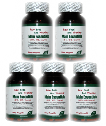 1 Bottle of Main Essentials - 12 in 1 Formula Vitamin B17 Plus CAPSULES
