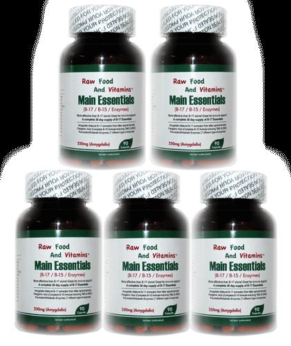 1 Bottle of Main Essentials - 12 in 1 Formula Vitamin B17 Plus CAPSULES