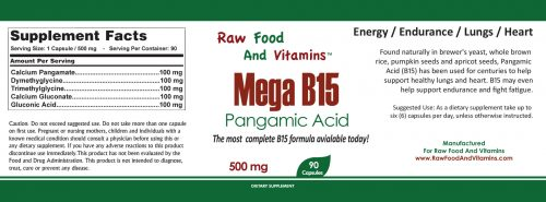 Vitamin B15 - Mega B15 Pangamic Acid